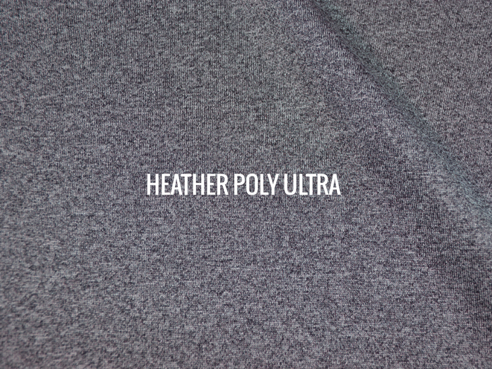 """HEATHER POLY ULTRA""   I   Shirt / Hoodie Fabric"