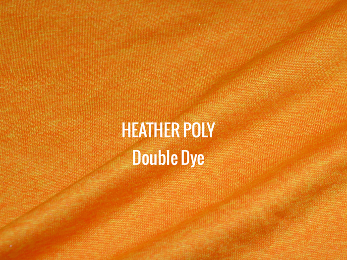 """HEATHER POLY"" Double Dye   I   Shirt Fabric"