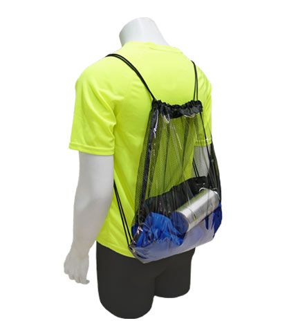Style 456 Clear Vinyl and Mesh Drawstring Backpack Keep your event safe and  secure with this hot item. Durable and tough 616c814ca