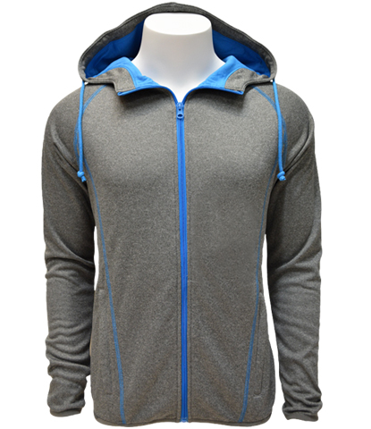 Jackets leslie jordanleslie jordan full zip jacket performance fabric with smooth touch feel base color is heather stone with optional jersey lined contrast hood gumiabroncs Image collections