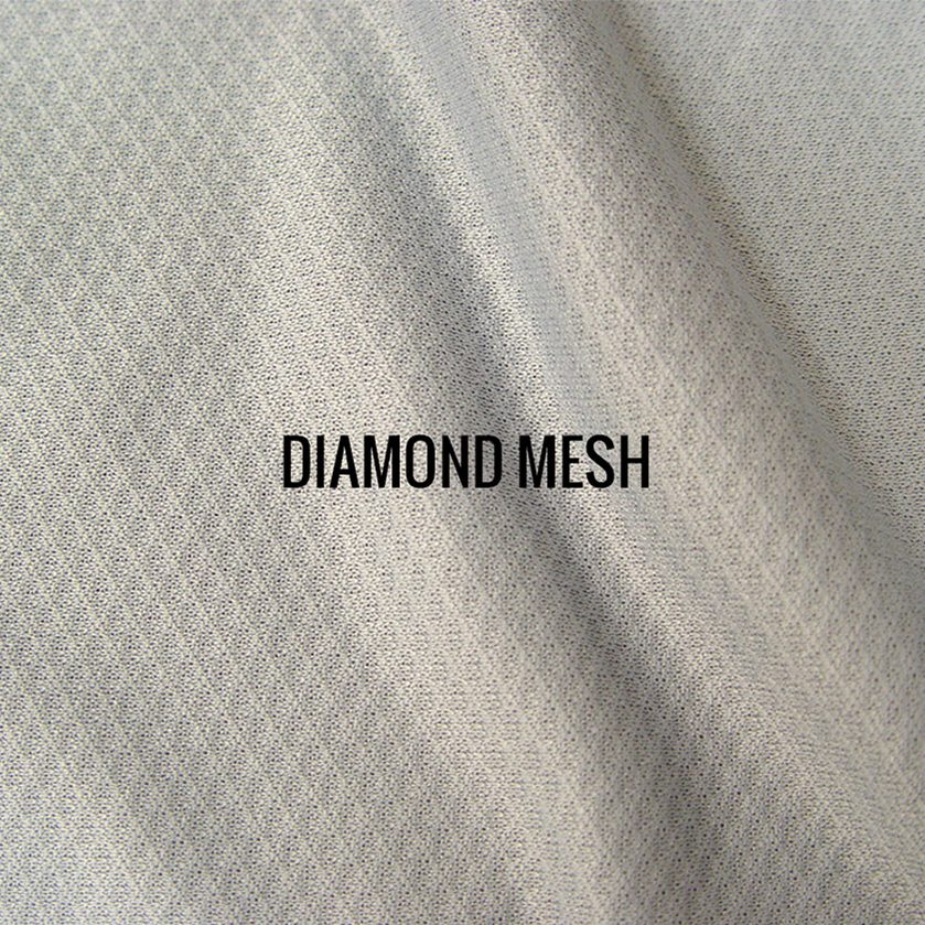 """DIAMOND MESH"" I Shirt Fabric I Tightly woven sporty 100% poly performance. Diamond pattern mesh fabric. Breathable & lightweight."