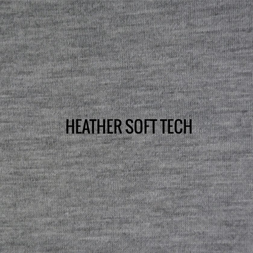 """HEATHER SOFT TECH"" I Shirt Fabric I Super comfortable 100% Poly Performance fabric. Looks and feels like cotton. Duo tone finish gives fabric a versatile look, whether you theme is classic, retro or trendy"