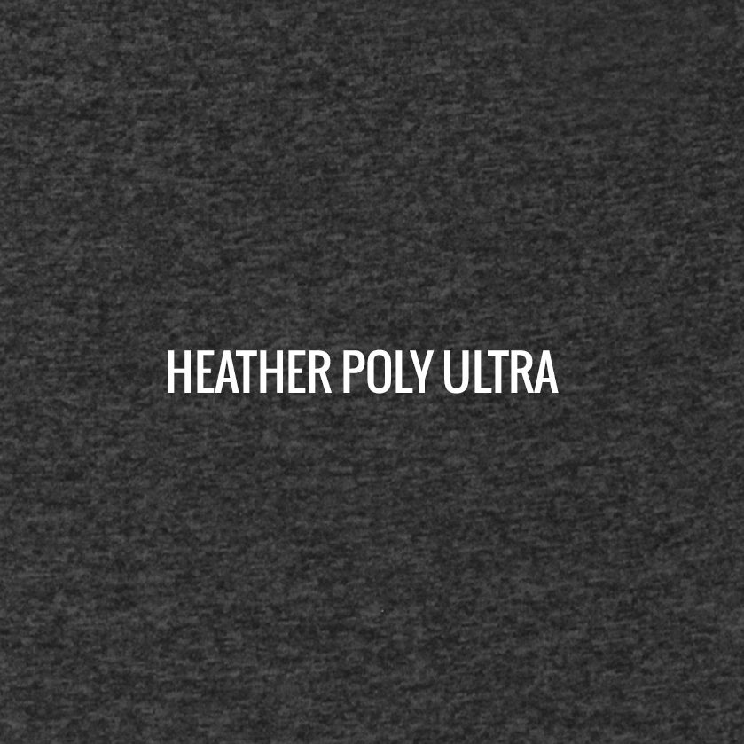 """HEATHER POLY ULTRA"" I Shirt Fabric I Our newest Poly/Spandex 4-way stretch blend. Ultimate in lighter weight fabric, offering excellent body movement."