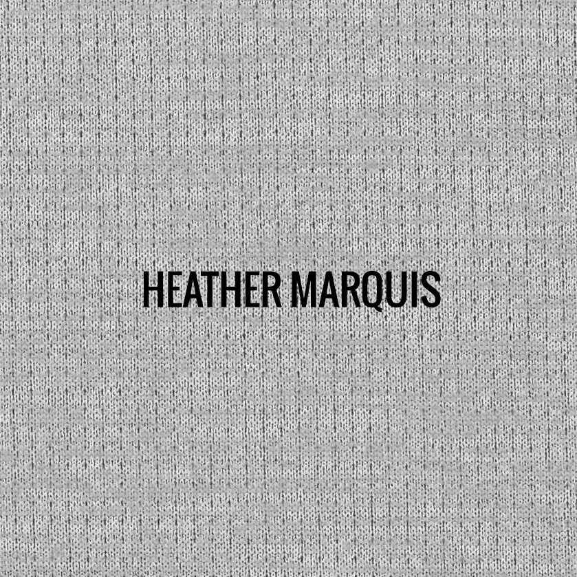 """HEATHER MARQUIS"" I Shirt Fabric I Breathable performance fabric. Petite square graphic mesh fabric now available in heather look. Smooth against the skin. 100% Performance Poly"