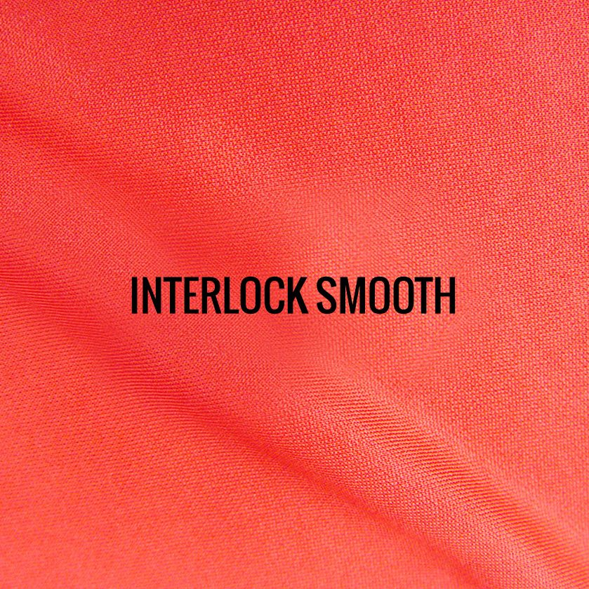"""INTERLOCK MICROSMOOTH"" I Shirt Fabric I One of our original fabrics, this interlock Micro smooth 100% Poly performance fabric keeps runners dry, comfortable and cool. Tightly woven with a smooth and silky lightweight feel."