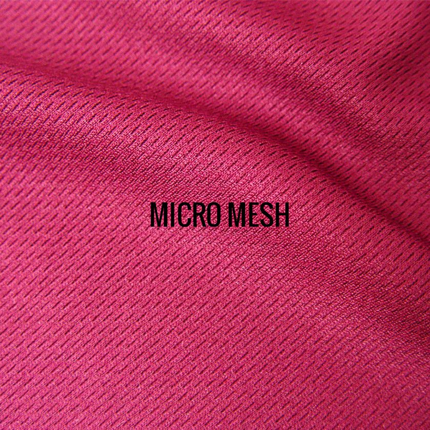 """MICRO MESH"" I Shirt Fabric I Sporty 100% Poly performance micro mesh fabric. Breathable & lightweight, sturdy enough to handle long runs. Authentic athletic tech shirt feel."