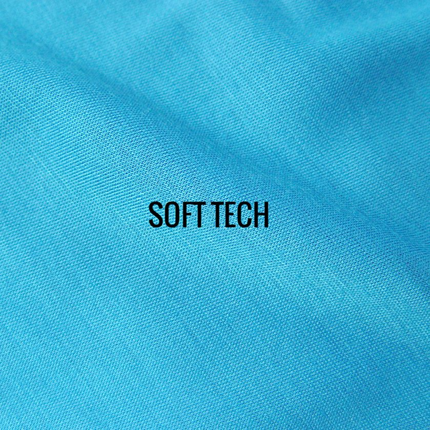 SOFT TECH fabric is 100% spun-poly technical fabric. Our Soft Tech fabric offers the best of both worlds with the look and feel of soft casual cotton and the wicking performance of Poly
