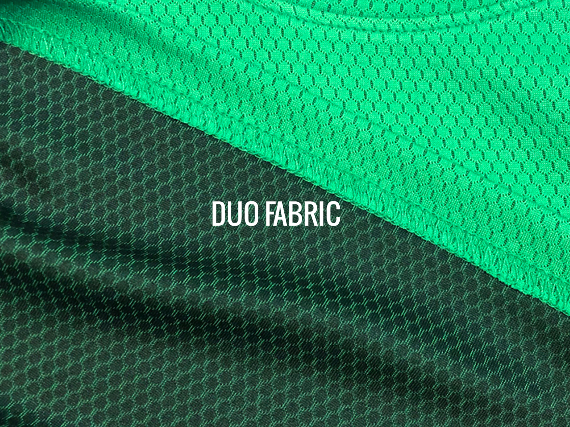 Duo fabric is contrasting colors front & back in a unique textured pattern